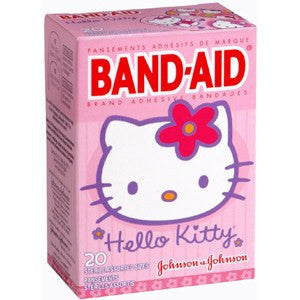 Band-Aid Hello Kitty Adhesive Bandages - 20 Count for Adhesive Bandages by Johnson & Johnson | Medical Supplies