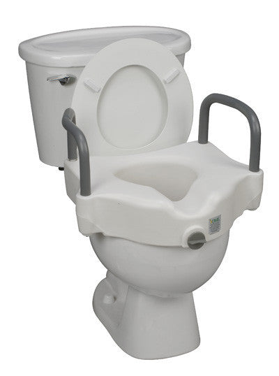 Buy Hi Riser Locking Raised Toilet Seat with Arms by Briggs Healthcare/Mabis DMI wholesale bulk | Raised Toilet Seats