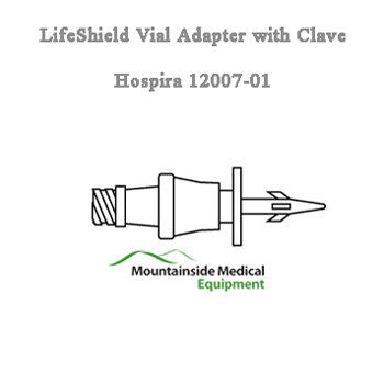 Hospira LifeShield Vial Adapter with Clave, 50/Case - Vial Adapter - Mountainside Medical Equipment