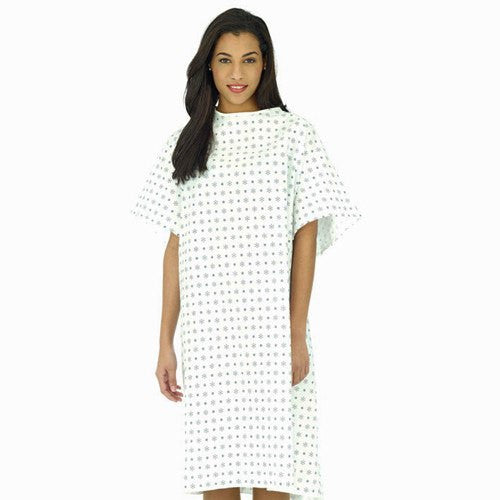 Hospital Patient Gown Mint Color for Isolation Gowns by Essential | Medical Supplies