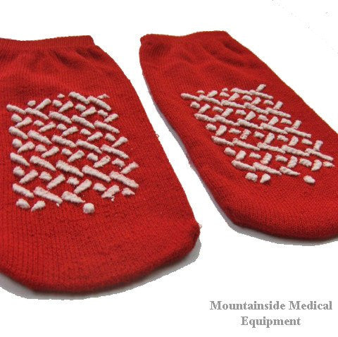 Dynarex Non Skid Slipper Socks Small Red