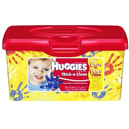 Buy Huggies Thick and Clean Hypoallergenic Wipes 64 Count used for Wet & Dry Wipes by Kimberly Clark