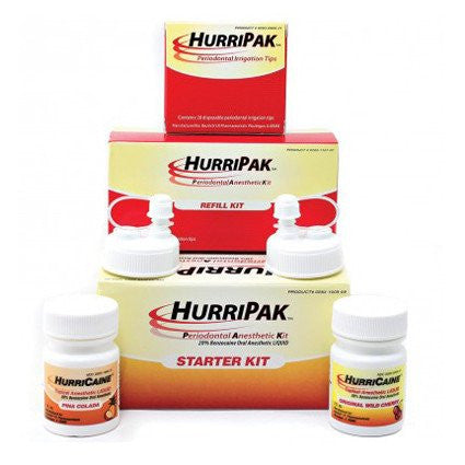 HurriPAK Periodontal Anesthetic Starter Kit, Wild Cherry & Pina Colada for Dentists by Beutlich | Medical Supplies