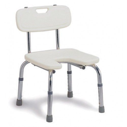 Buy Hygienic Shower Chair Bath Seat with Backrest by Briggs Healthcare/Mabis DMI from a SDVOSB | Shower Chairs