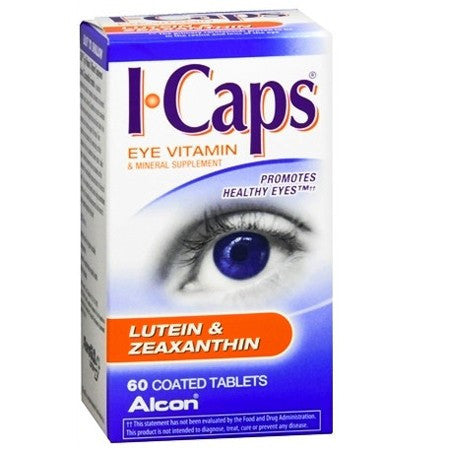 Buy ICaps Eye Vitamins with Lutein and Zeaxanthin Formula 60 Tablets online used to treat Eye Products - Medical Conditions