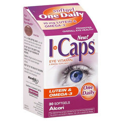 Buy ICaps Lutein & Omega-3 Eye Vitamins 30 Softgels by Alcon Laboratories | Home Medical Supplies Online