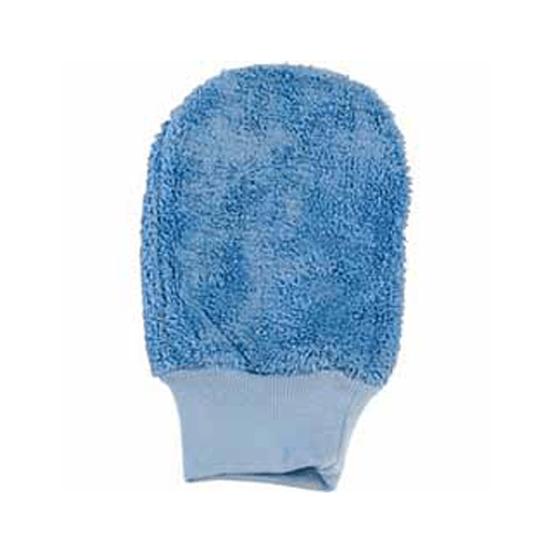 Microfiber Surface Dusting & Cleaning Mitt without Thumb, Blue