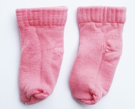 Newborn Booties Infant Socks, Pink - Non Skid Socks - Mountainside Medical Equipment