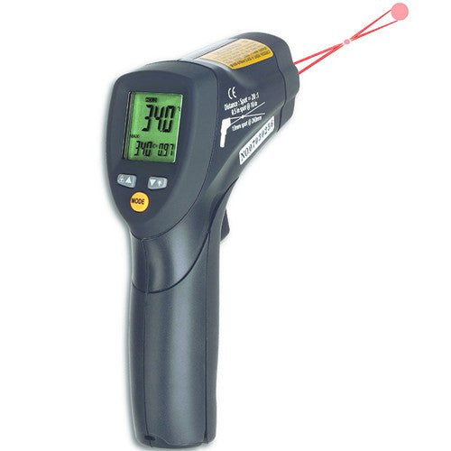 Highly Accurate Infrared Laser Thermometer with Double-Laser