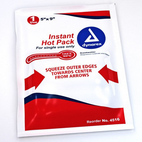 Disposable Instant Hot Pack for Hot & Cold Packs by Dynarex | Medical Supplies
