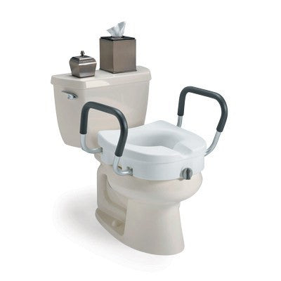 Invacare Raised Toilet Seat with Armrests