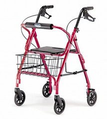 Buy Invacare Adult Rollator with Locking Hand Brakes, Red by Invacare | SDVOSB - Mountainside Medical Equipment