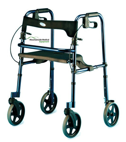 Invacare Rollite Adult Rollator, Blue & Black