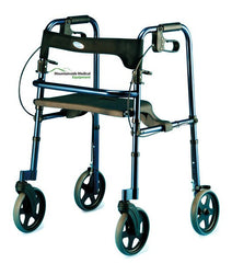 Buy Invacare Rollite Adult Rollator, Blue & Black by Invacare from a SDVOSB | Rollators and Walkers