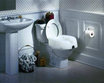 Invacare Clamp On Raised Toilet Seat 1301RTS