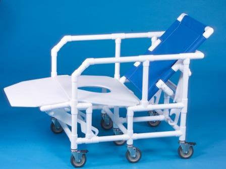 Bariatric Reclining Shower Chair Commode - Bariatric Commodes - Mountainside Medical Equipment