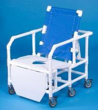 Buy Bariatric Reclining Shower Chair Commode by Innovative Products Unlimited from a SDVOSB | Bariatric Commodes