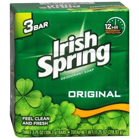 Irish Spring Deodorant Soap Original Scent (3 Pack)