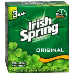 Buy Irish Spring Deodorant Soap Original Scent (3 Pack) online used to treat Personal Care & Hygiene - Medical Conditions