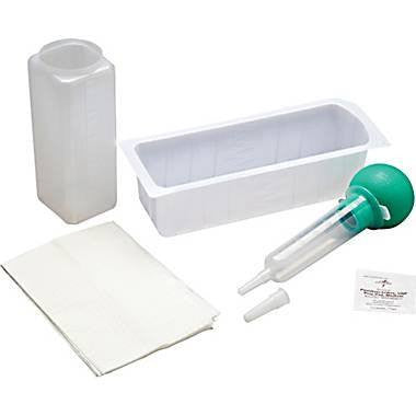 Irrigation Tray with Bulb Syringe - Foley Kits and Trays - Mountainside Medical Equipment