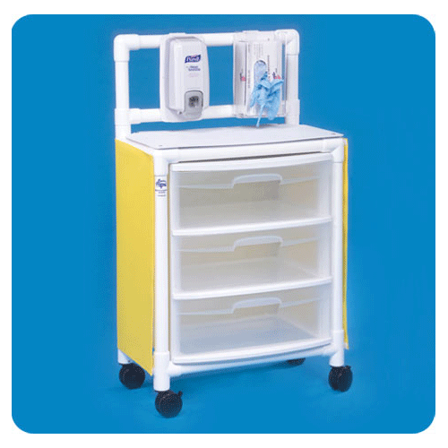 Isolation Station Mobile Cart - Isolation Supplies - Mountainside Medical Equipment