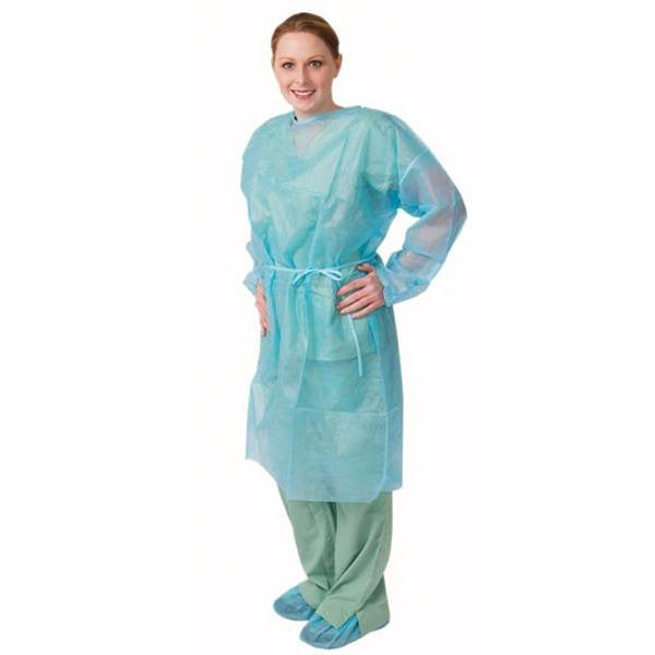 Fluid-resistant Isolation Gowns 50/Case Blue