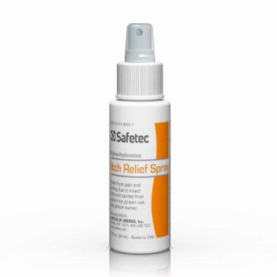Buy Diphenhydramine Itching Pain Relief Spray 2 oz by Safetec wholesale bulk | Insect Bites