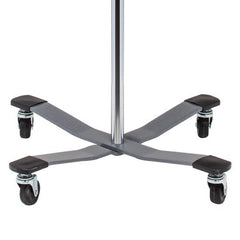 Buy Economy Twist-Lock Iv Pole with 4-Legs, 2-Hooks by Clinton Industries from a SDVOSB | IV Stands and Poles