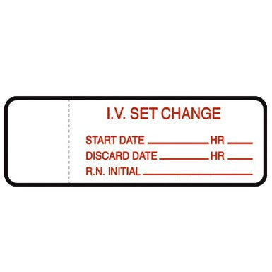 Buy IV Set Change Labels 1000/Roll by Mountainside Medical Equipment wholesale bulk | IV Administration Sets