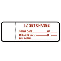 Buy IV Set Change Labels 1000/Roll online used to treat IV Administration Sets - Medical Conditions