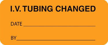 Buy IV Tubing Change Labels, Orange 1000/Roll online used to treat IV Administration Sets - Medical Conditions