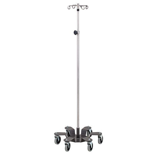 Low Gravity Base Stainless Steel Infusion Pump Stand with 6 Legs