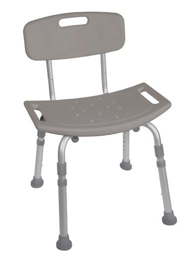 Deluxe KD Aluminum Bath Seat - Bath Benches - Mountainside Medical Equipment