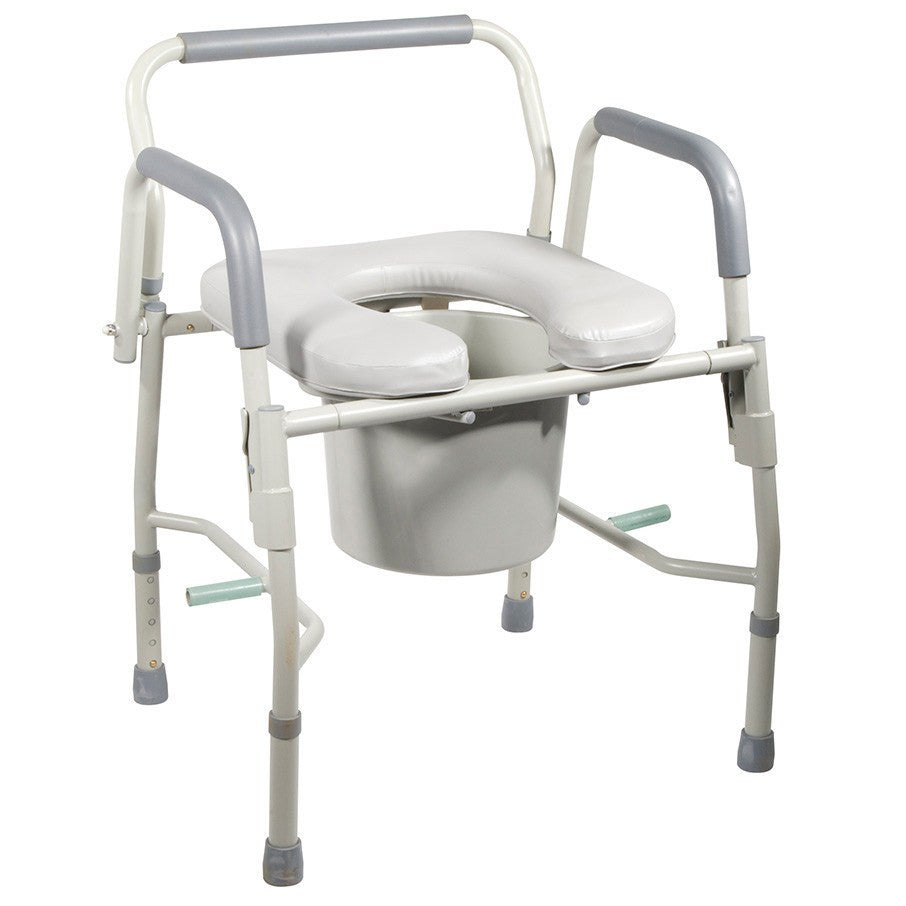 Buy Deluxe Steel Drop Arm Commode with Padded Seat by Drive Medical online | Mountainside Medical Equipment