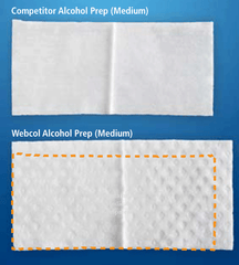 Buy Webcol Alcohol Prep Pads 2-Ply Medium 200/Box used for Alcohol Prep Pads by Covidien