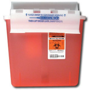Transportable Sharps Container 5 Quart, Red 8507SA for Sharps Containers by Covidien /Kendall | Medical Supplies