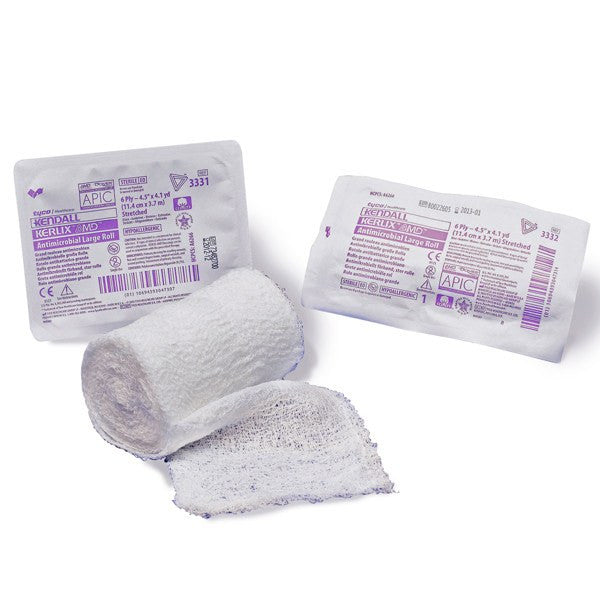 Kerlix AMD Antimicrobial Silver Gauze Bandage Roll, Sterile