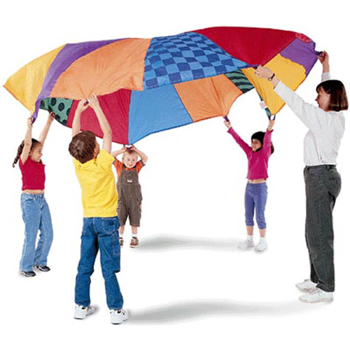 Kids Parachute Activity Game - Sensory Stimulation Activities - Mountainside Medical Equipment