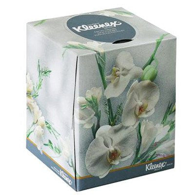 Kleenex Boutique Facial Tissues, Floral Box, 2-Ply, 36/Case