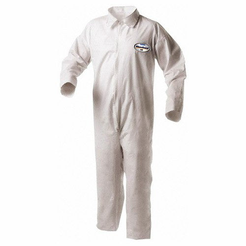 Kleenguard A35 Protective Coveralls with Zipper Front, White