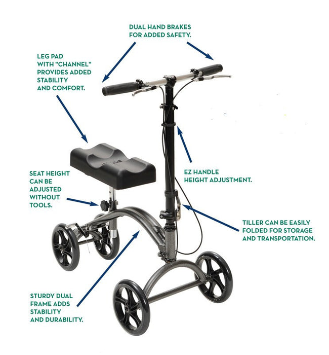 DV8 Steerable Knee Walker - Rollators and Walkers - Mountainside Medical Equipment
