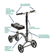 Buy DV8 Steerable Knee Walker by Drive Medical from a SDVOSB | Rollators and Walkers