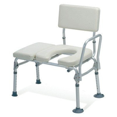 Knock Down Combination Padded Transfer Bench and Commode