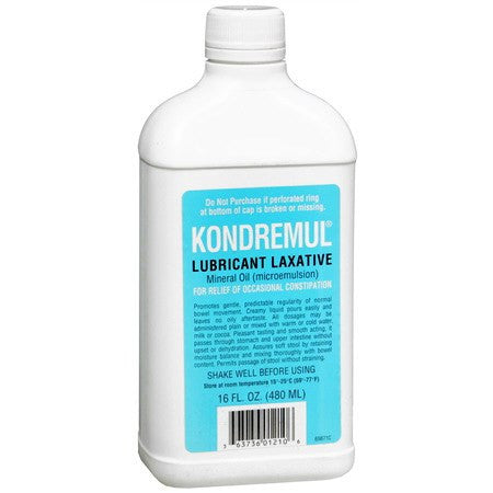 Kondremul Mineral Oil Lubricant Laxative 16 oz for Over the Counter Drugs by Emerson Healthcare | Medical Supplies