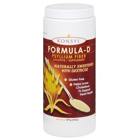 Konsyl Formula-D Psyllium Fiber Laxative Supplement 14 oz