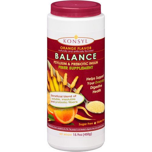 Konsyl Balance Orange Psyllium Prebiotic Inulin Fiber Supplement