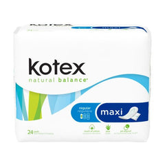 Buy Kotex Natural Balance Maxi Pads 288/Case by Kimberly Clark | Home Medical Supplies Online