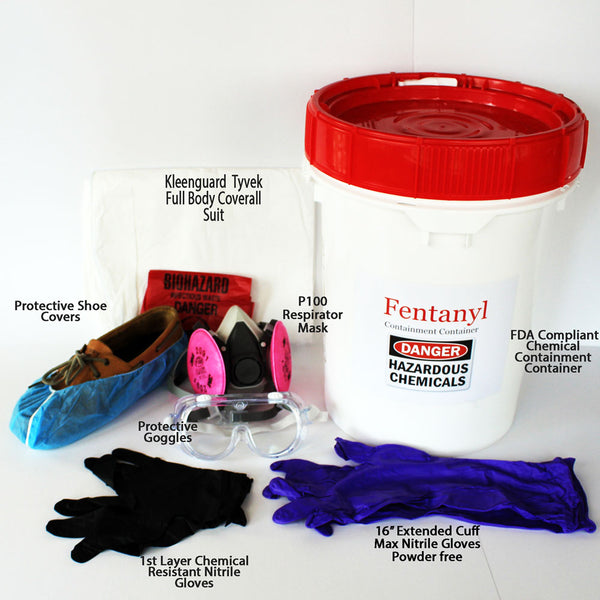 Law Enforcement Drug Collection and Handling Protection Kit