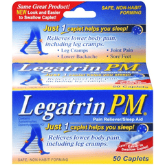 Legatrin PM Pain Reliever & Sleep Aid, 50 Caplets for Back Pain by LiL Drugstore Products | Medical Supplies