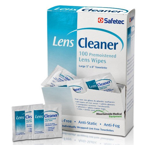 Safetec Lens Cleaning Wipes (Streak-free) 100/Box